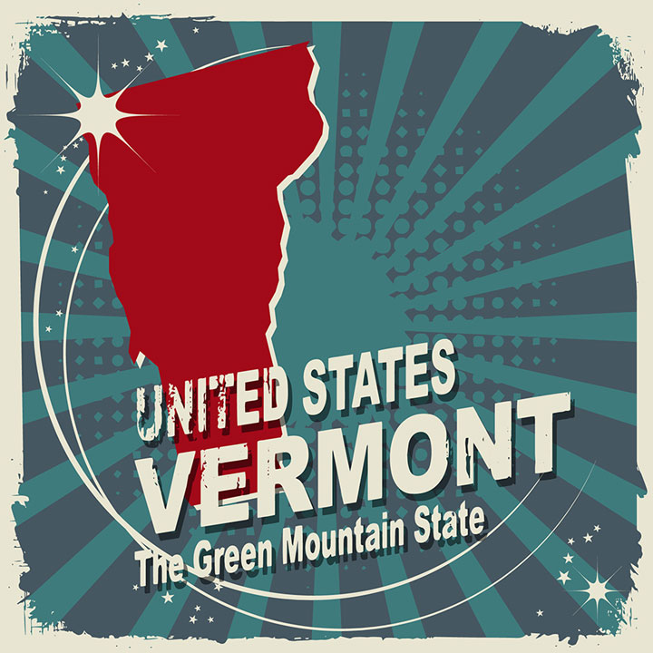 abstract vermont map