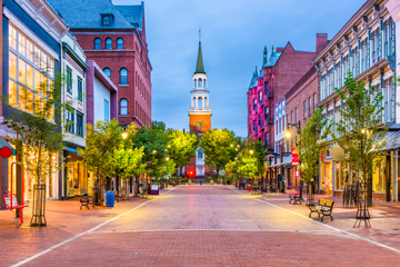 Church Street Marketplace in Burlington, Vermont