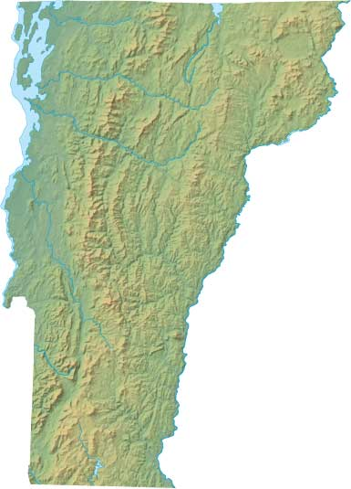 Vermont relief map